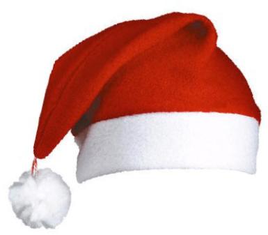 Die klassische Nikolausmütze oder Puddelmütze Pompon aus 100 % ...